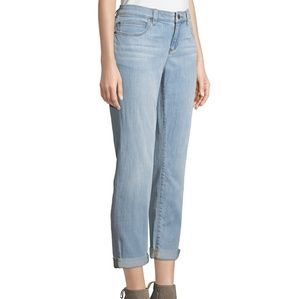 NWT Eileen Fisher Light Wash Ankle Jeans